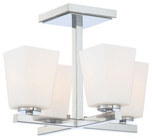 Minka-Lavery 1542-77 - 4 Light Semi Flush Mount