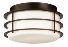 Forecast F849268NV - Two-light Ceiling in Deep Bronze finish with etched white opal glass
