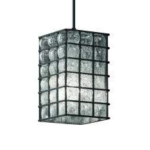 Justice Design Group WGL-8816-15-GRCB-DBRZ-LED1-700 - 1-Light Small Pendant