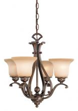 Vaxcel International CH35404A/C - Monrovia 4L Chandelier (Dual Mount)
