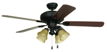 "Ellington Fan BFT52ABZ5C - Beaufort 52"" Ceiling Fan with Blades and Light in Aged Bronze Brushed"