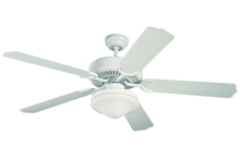 "Monte Carlo 5WF52WHD-L - 52"" Weatherford Deluxe Outdoor Fan - White"