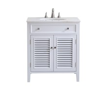 Elegant VF-1004 - 30 in. Single Bathroom Vanity set in White