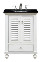 Elegant VF-1022 - 25 in. Single Bathroom Vanity set in Antique White