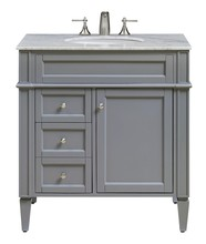 Elegant VF-1025 - 32 in. Single Bathroom Vanity set in Grey