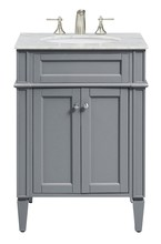 Elegant VF-1027 - 24 in. Single Bathroom Vanity set in Grey