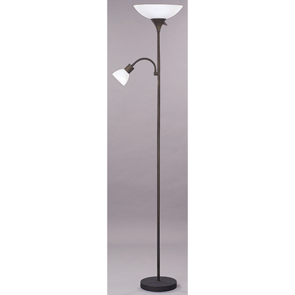 "Floor, IFL10 ORB, 70""H 2 Light Floor Lamp, Frosted Glass, 100W Type A and 60W Type GC"