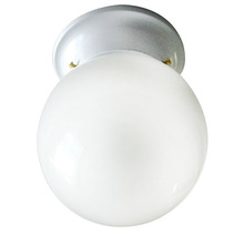 "Canarm ICL911 - Ceiling, ICL9 WH, 6"" Round Globe, White Opal Glass, 60W Type A"