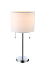 "Canarm ITL433A22CH - Monti, ITL433A22CH, 2 Lt Table Lamp, Pull Chains, 40W Type A,  11"" W x 22 1/2"" H"