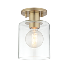 Hudson Valley H108601-AGB - 1 Light Semi Flush